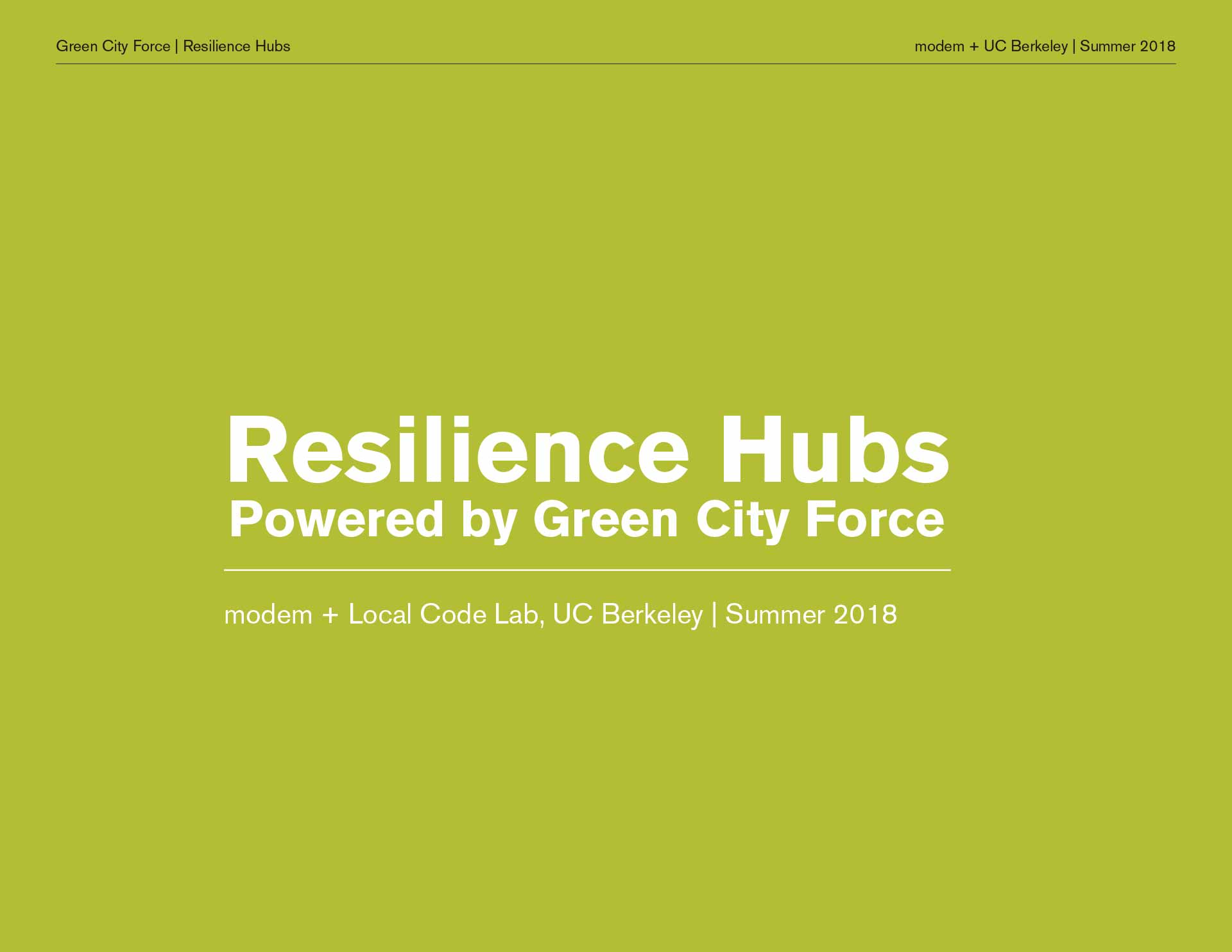 Eco Hubs